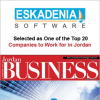 ESKADENIA Software, One of The Top 20 Companies to Work for in Jordan