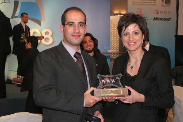 ESKADENIA Software wins an award for BETAQAT and Ahliyyah School for Girls websites from Jordan Web Awards 2009