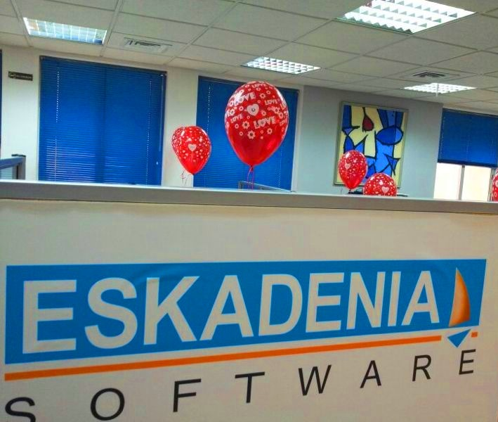 ESKADENIA Software employees celebrate Valentine's Day at the Company Feb 2013